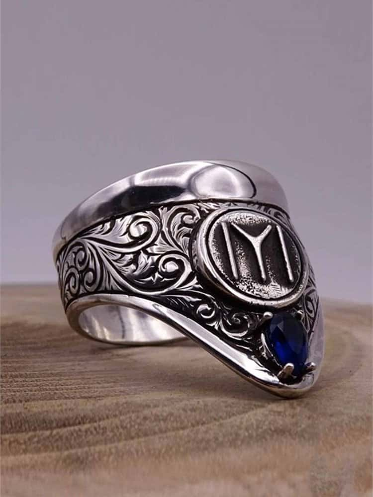 Cool Archery Silver Mens Ring 2 - Cool Archery Silver Mens Ring