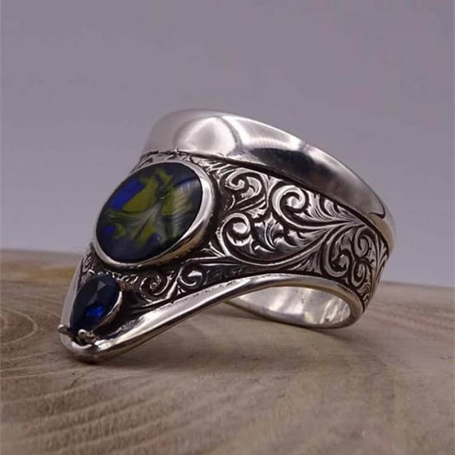 Esthetic Archery Silver Mens Ring 1 650x650 - Esthetic Archery Silver Mens Ring