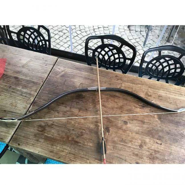 Handmade Archery Set Bow Arrows Buffalo Horn