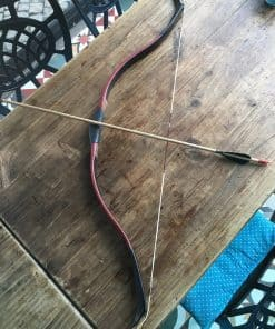 Handmade Archery Set Bow Arrows Red