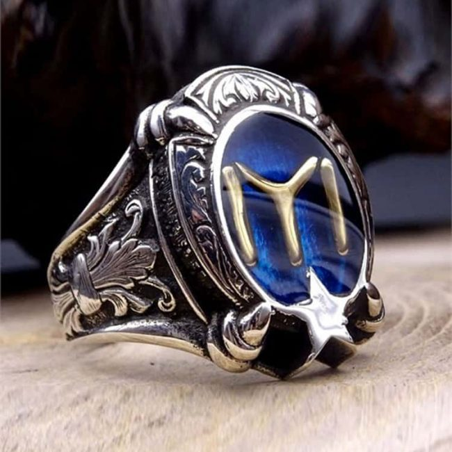 Kayi Tribe Silver Mens Ring