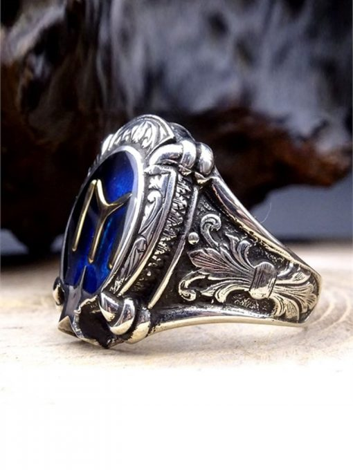 Kayi Tribe Silver Mens Ring 2 510x680 - Kayi Tribe Silver Mens Ring