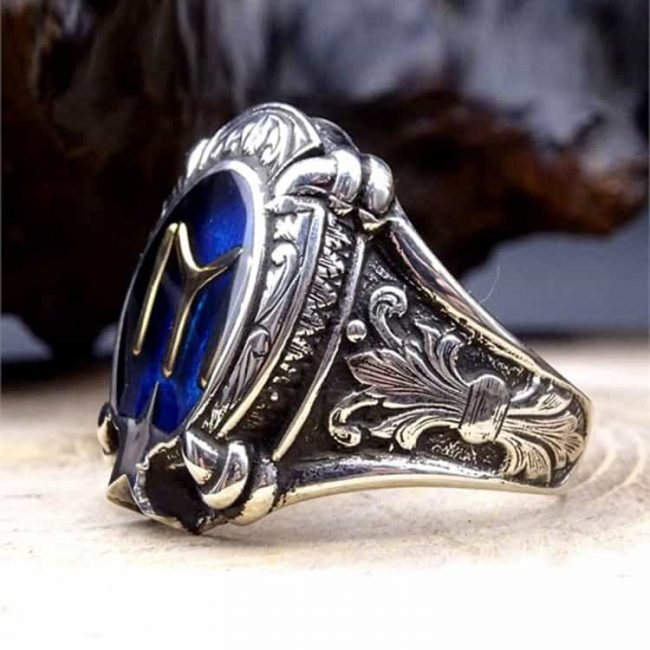 Kayi Tribe Silver Mens Ring 2 650x650 - Kayi Tribe Silver Mens Ring
