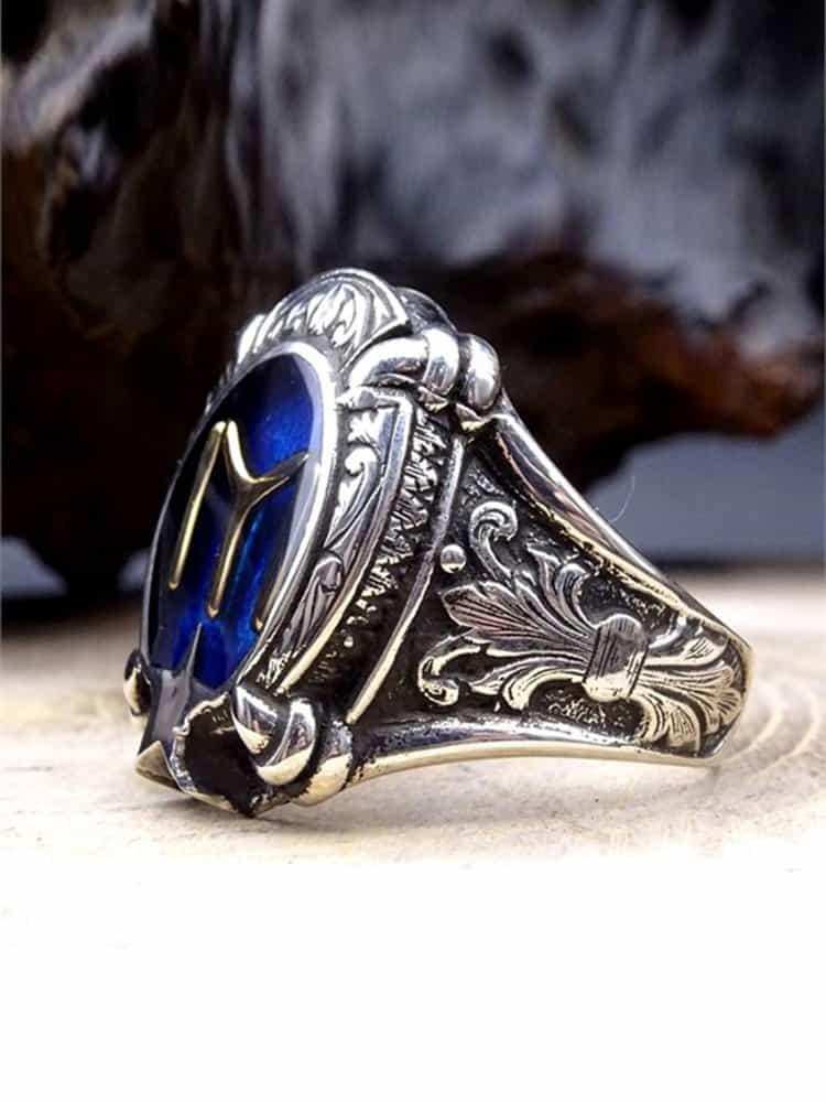 Kayi Tribe Silver Mens Ring 2 - Kayi Tribe Silver Mens Ring