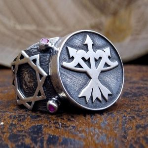 Three Arrows Bow Silver Mens Ring-dirilis ring-ertugrul ring