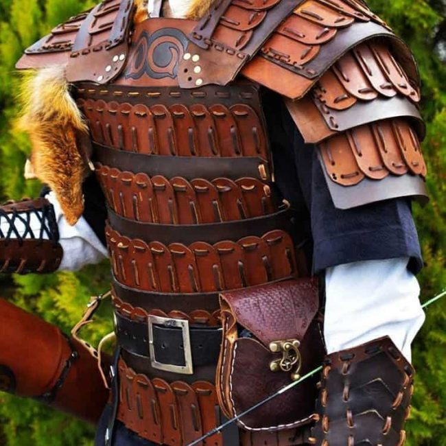 leather 650x650 - Turkish Handmade Leather Armor Brown