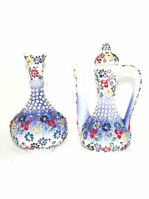 ceramic tile vase pitcher set 510x680 - Ceramic Tile Vase Pitcher Set