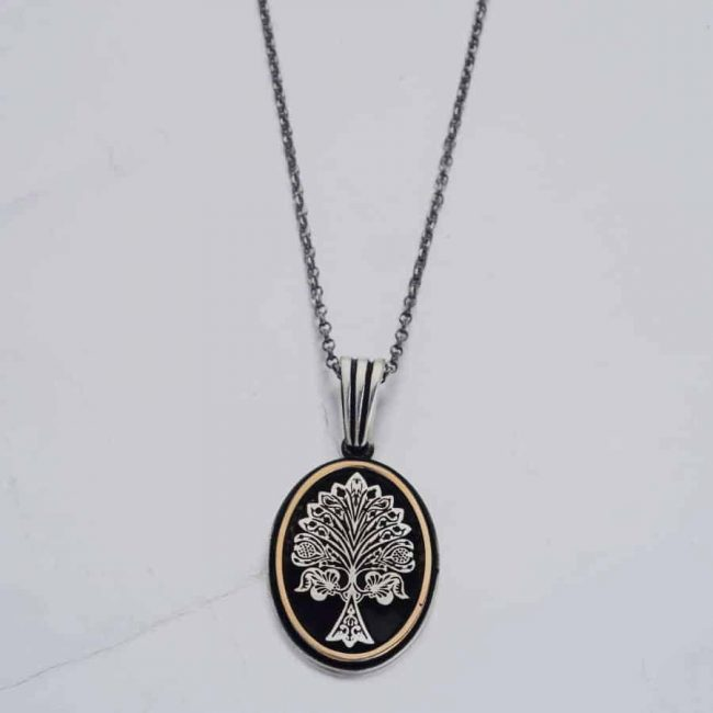 Resurrection Dirilis Ertugrul Series Ilbilge Tree of Life Necklace Accessory