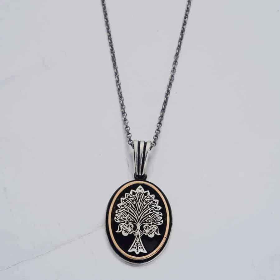 Resurrection Dirilis Ertugrul Series Ilbilge Tree of Life Necklace Accessory