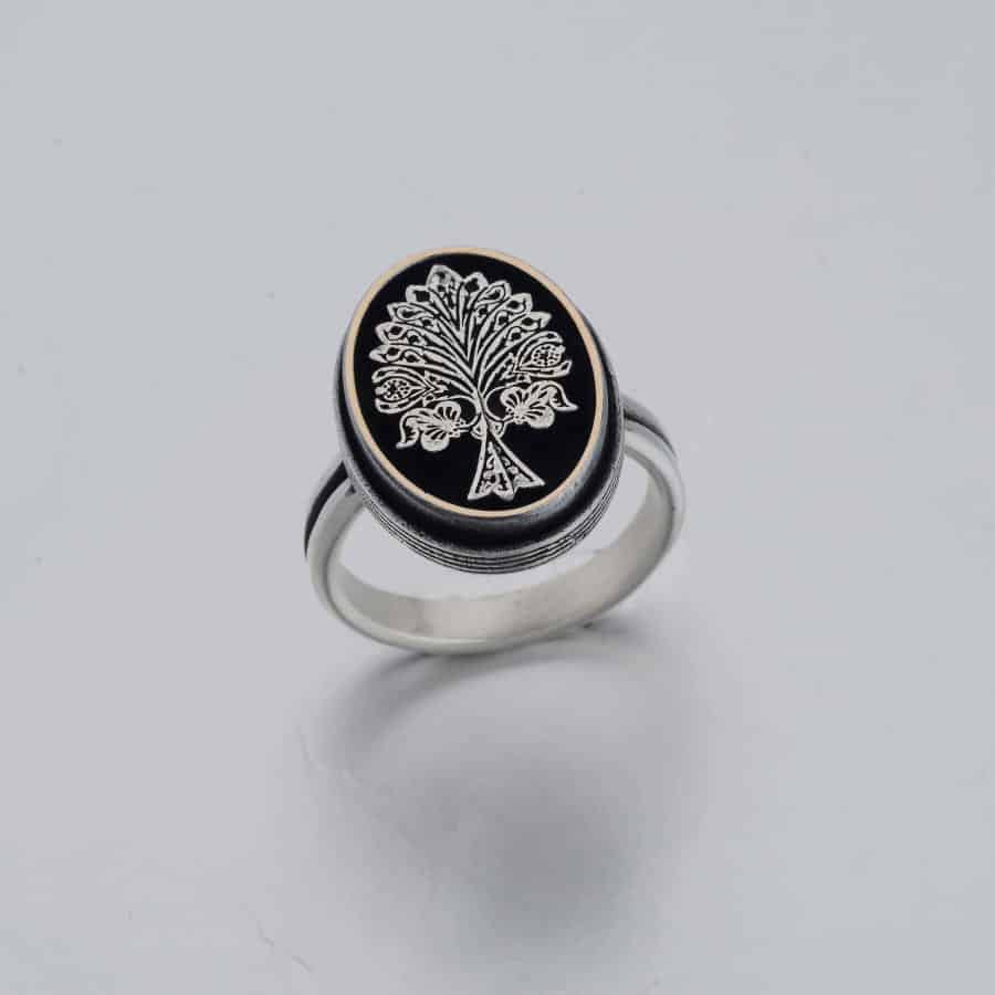 Resurrection Dirilis Ertugrul Series Ilbilge Tree of Life Ring Accessory