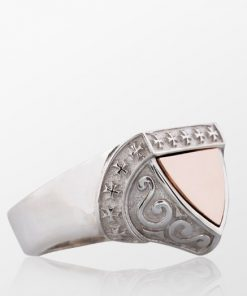 The Protector Series Cross Detailed Shield Knight Ring