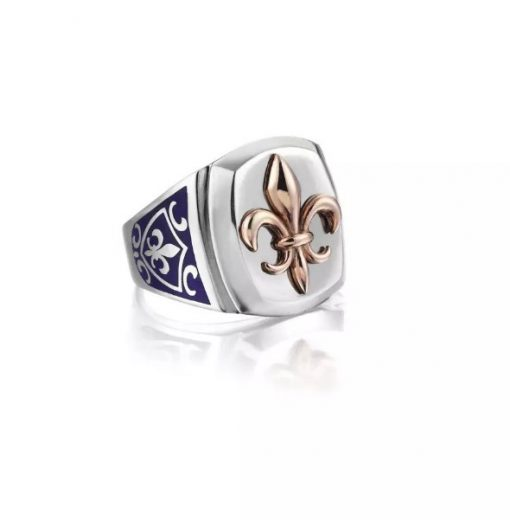 The Protector Series Ring with Lily Symbol
