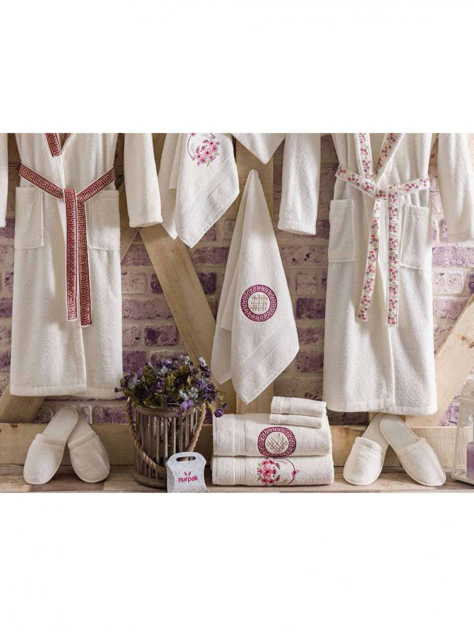mens womens turkish terry cotton bath house robe 5 scaled 950x1266 - White Embroidered Bamboo Robes