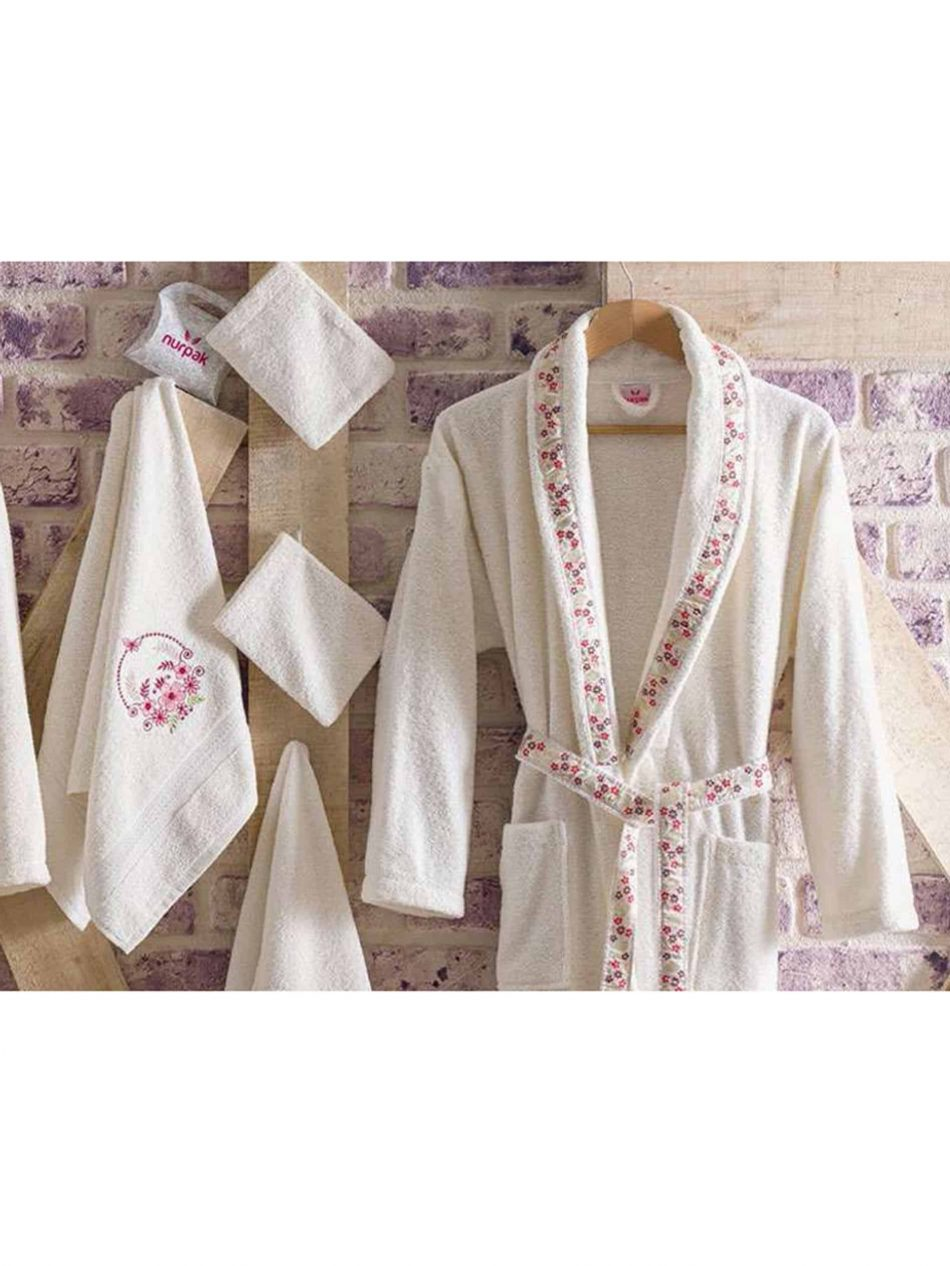 mens womens turkish terry cotton bath house robe 6 950x1266 - White Embroidered Bamboo Robes