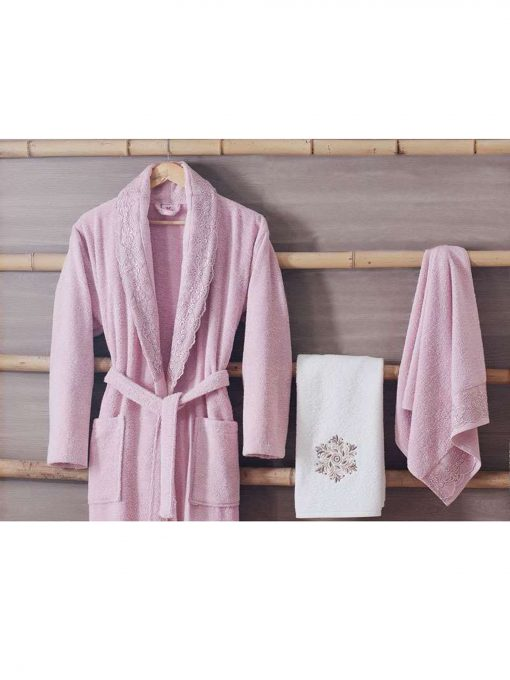 terry cloth robes womens mens online 2 510x680 - White Pink Turkish Cotton Robes