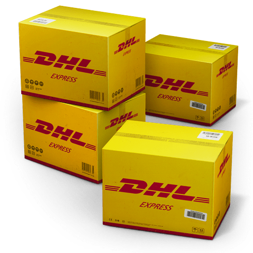 DHL Shipping Box icon - Orange Turkish Delight