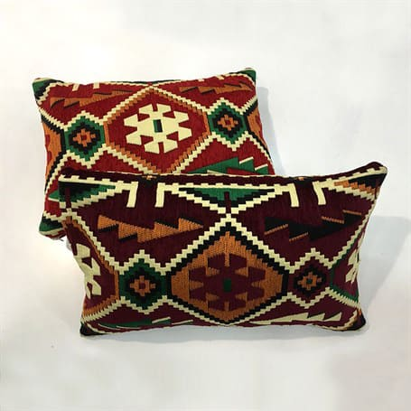 Green Burgundy Rectangle Rug Turkish Suzani Pillows kilim Pillow Case
