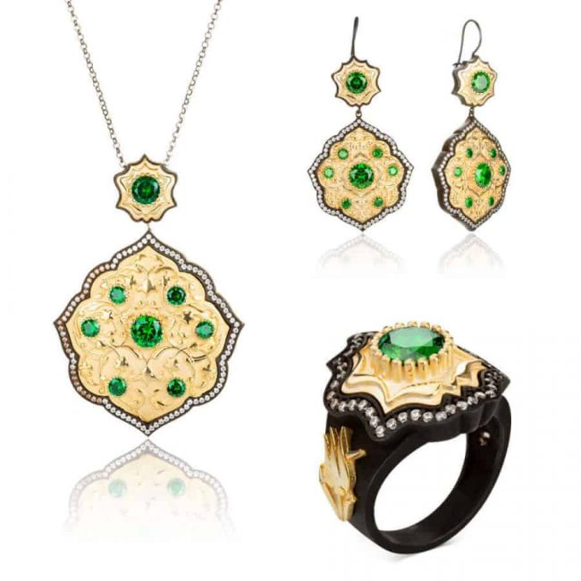 Payitaht Abdülhamid Series Bidar Sultan Jewelry Set