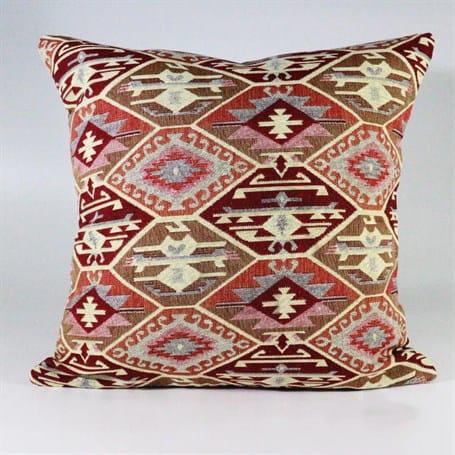Turkish Kilims Pillows Case Beige Burgundy