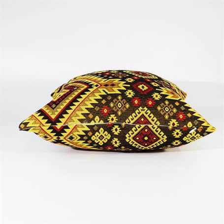 Turkish Kilims Pillows Case Yellow Brown Rug Pillow