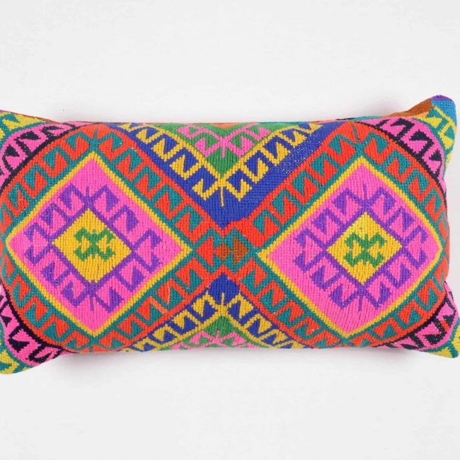 pillows made from rugs