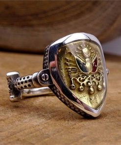 Ertugrul Ring Kayi Ring 1 247x296 - Resurrection Pusat-Shield Ottoman Starboard Silver Concept Ring