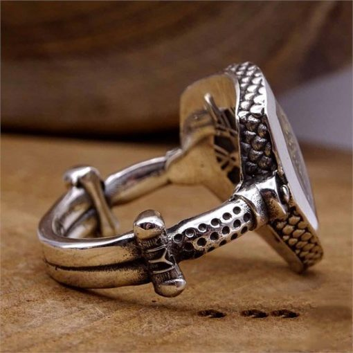 Ertugrul Ring Kayi Ring 2 510x510 - Resurrection Pusat-Shield Ottoman Starboard Silver Concept Ring