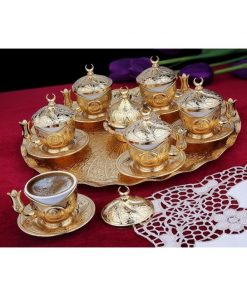Turkish Ottoman Copper Coffee Set