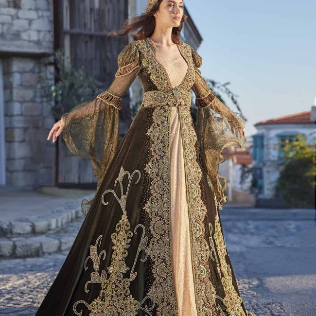 New season henna night caftan dresses 1 650x650 - Caftan Dress Henna