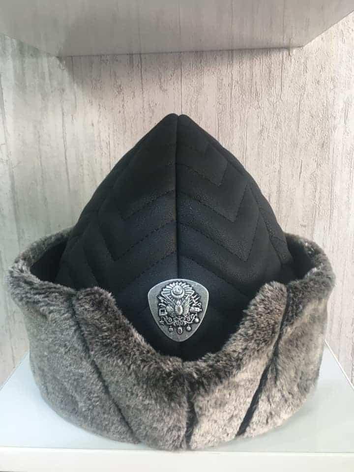 leather alp cap