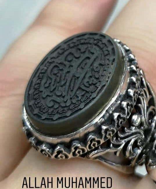Agate Stone ottoman Handmade Ring