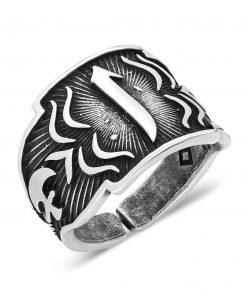 Steel İslamic Elif Ring Adjustable 1 247x296 - Home