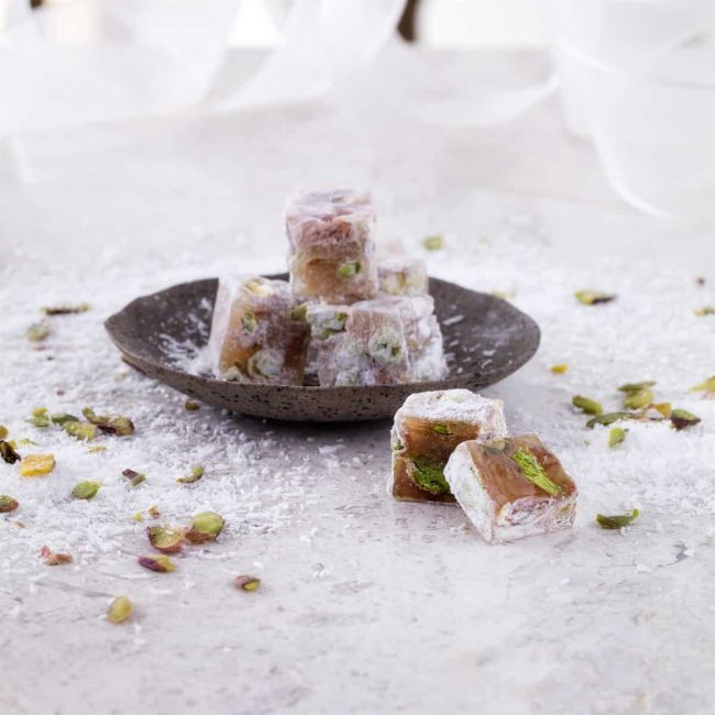 double roasted pistachio turkish delight