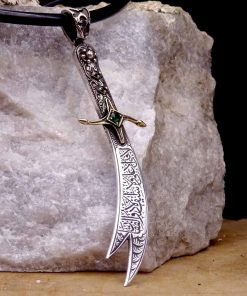 silver zulfiqar necklace