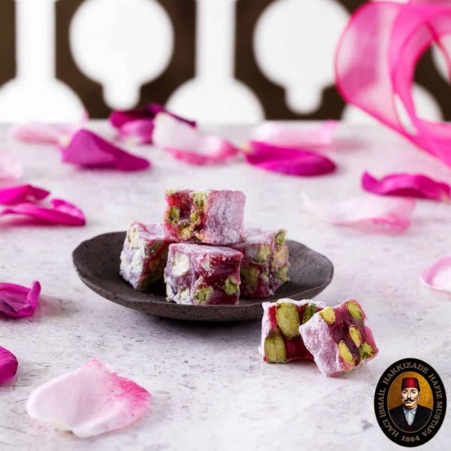 rose lokum turkish delight
