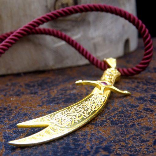 silver zulfiqar necklace