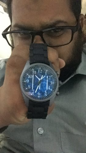 Kayı Tribe Watch With Blue Silicone Watchband photo review