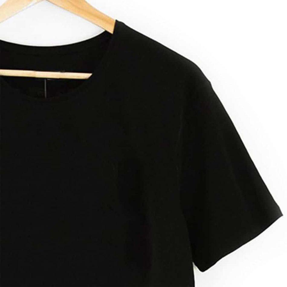 Elif Vav Neck Short Sleeve Zipper T Shirt Black And White 5 950x950 - Rumi Neck Short Sleeve Zipper T-Shirt