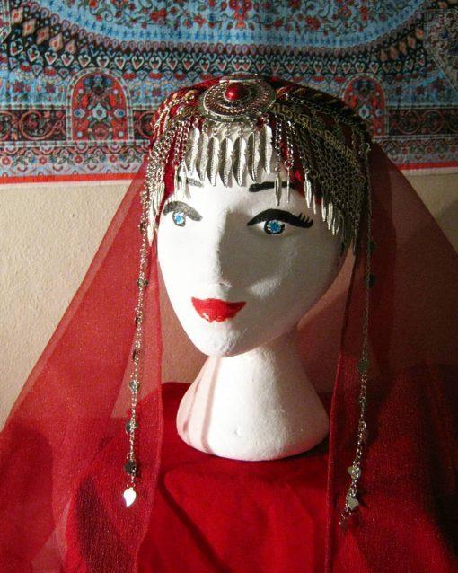 Ertugrul Head Dress Turkish Woman Head Dress Red 1 510x638 - Turkish Woman Head Dress Red