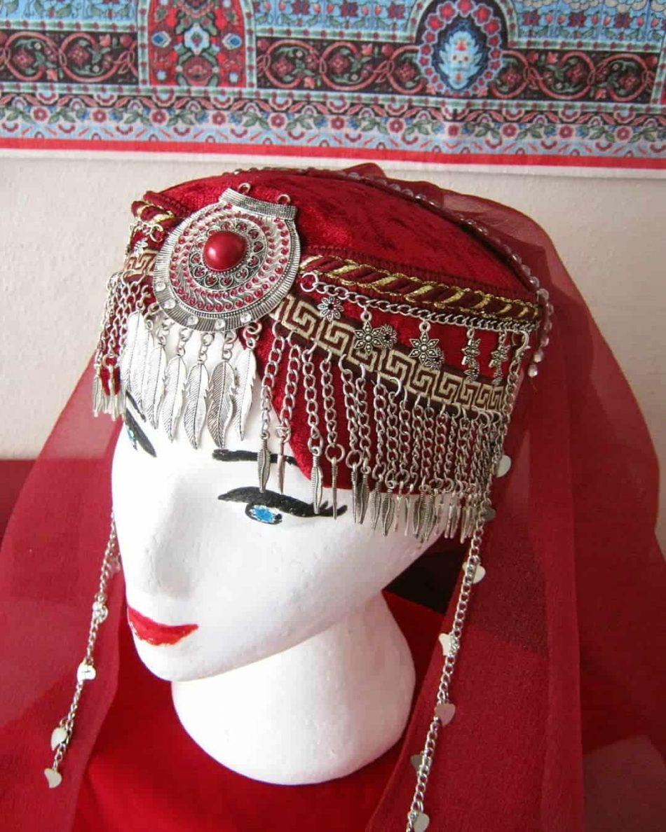 Ertugrul Head Dress Turkish Woman Head Dress Red 4 950x1188 - Turkish Woman Head Dress Red