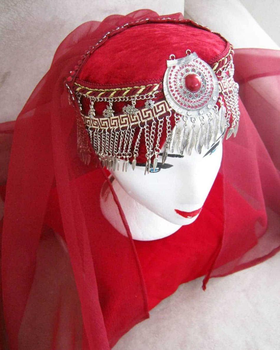 Ertugrul Head Dress Turkish Woman Head Dress Red 8 950x1188 - Turkish Woman Head Dress Red
