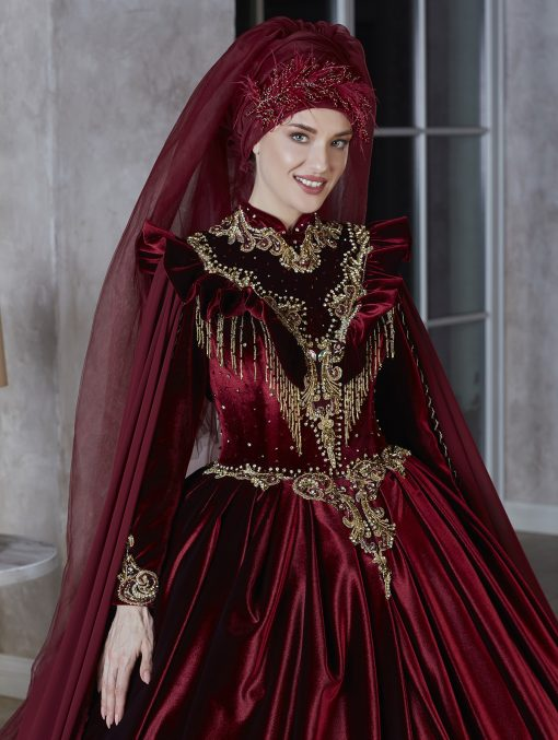 elegant floor length muslim gown islamic kaftans and party dresses