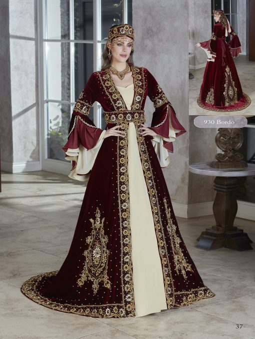 elegant beaded Ball gown kaftan dresses 2020 unique sweetheart neck Arabic evening dress wear Vestidos de gala