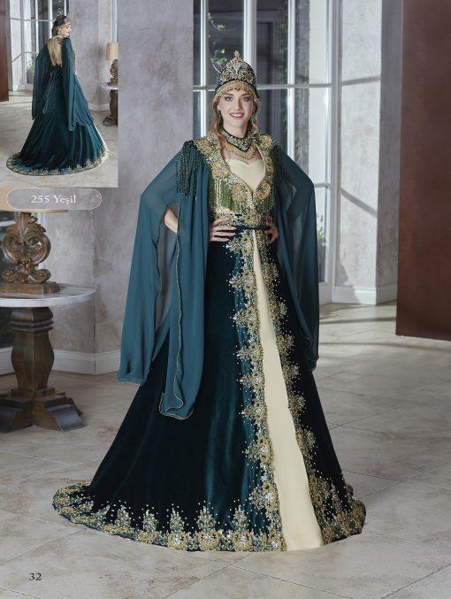 long gold sequin emerald green velvet floor length fully front embellished kaftan dress
