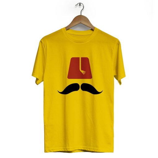 Ottoman Fez Crew Neck Short Sleeve T Shirt Black Yellow 510x510 - Ottoman Fez Neck Short Sleeve T-Shirt