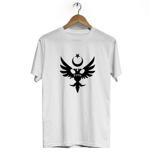 Seljuks Kayi Tribe Crew Neck Short Sleeve T Shirt White 510x510 - Seljuk Neck Short Sleeve T-Shirt