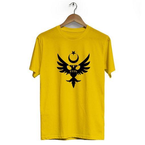 Seljuks Kayi Tribe Crew Neck Short Sleeve T Shirt Yellow 510x510 - Seljuk Neck Short Sleeve T-Shirt
