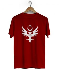 Seljuks Kayi Tribe Crew Neck Short Sleeve T Shirt claret red 247x296 - Home