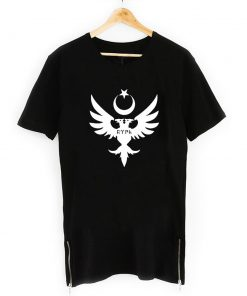 Seljuks Neck Short Sleeve Zipper T Shirt Black And White 247x296 - Home