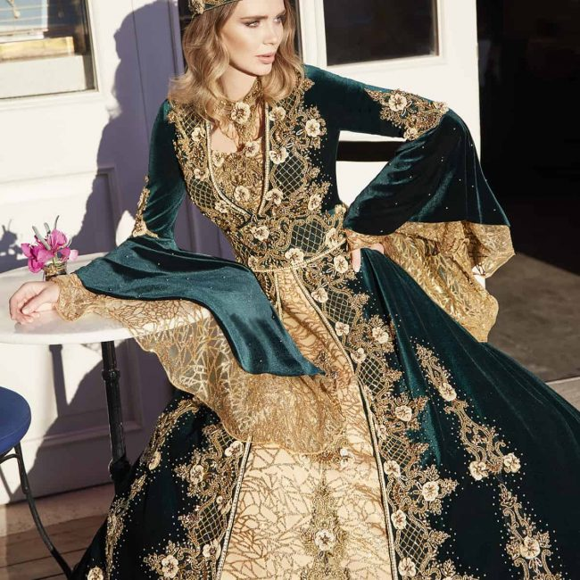 unique evening velvet hunter green ball gown party dresses